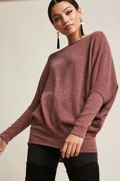 Product Name:Heathered Batwing Top, Category:CLEARANCE_ZERO, Price:28
