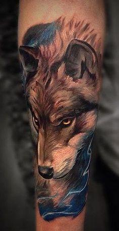 Wolf Tattoo Forearm, Wolf Tattoo Sleeve, Full Sleeve Tattoos, Top Tattoos, Black Tattoos, Body Art Tattoos, Tatuagem Trash Polka, Wolf Tattoos For Women, Amazing 3d Tattoos