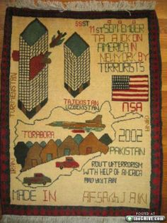 Best Afghan Rugs | yesterday we posted a rug featuring a depiction of the 9 11 world ...