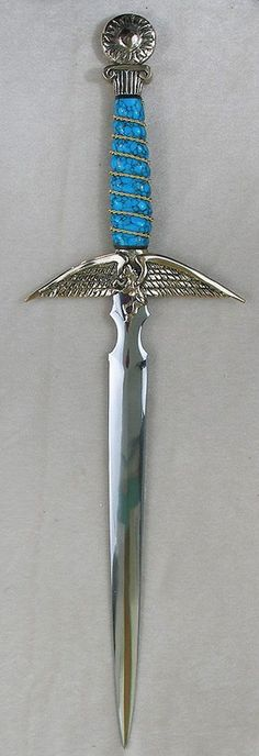 """Pegasus with Turquoise I bought an athame from them about a month ago, one of the """"currently available"""" ones they had because I am too impatient to wait, and this one wasn't currently on their website...can't decide if I regret acting too soon!"""