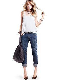 Victoria's Secret boyfriend jeans are so comfortable
