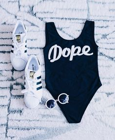 "Ditch the bikini and show off those curves without worrying! This ""Dope"" One-Piece Swimsuits features a   deep scoop neck, high-cut leg design and low back. Check it at Cupshe.com !"