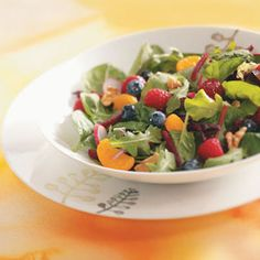 Fruited Mixed Greens Salad Recipe