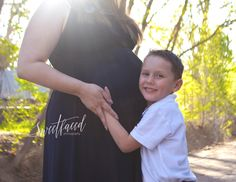 Maternity session with son