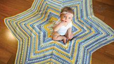 Crochet Gifts, Diy Crochet, Crochet Hooks, Crochet Baby, Crochet Ideas, Crochet Star Blanket, Crochet Stars, Crochet Afghans, Crochet Blankets