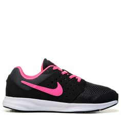 Nike Kids' Downshifter 7 Running Shoe Preschool Shoes (Black/Racer Pink) - 12.0 M