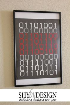 "Binary Code - ""I LOVE YOU"" Printable Currently $2 and there are other color options available"