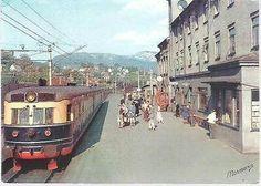 Voss, Norway - railway station - postcard c.1960s