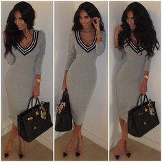 "Today's #ghalichiglam look. Wearing the ""Christina Dress"" from @wantmylook o... 