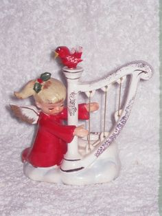Vintage Christmas Holt Howard Angel Harp & by BrilbunnySelections, $85.00