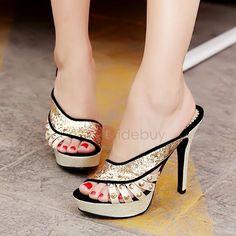#AdoreWe #TideBuy - #TideBuy Rivets Sequins Slip-On Sandals - AdoreWe.com