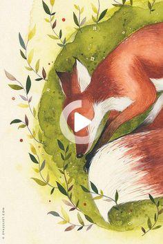 By Evajuliet / Source : etsy #illustration Fox Illustration, Painting, Etsy, Art, Art Background, Painting Art, Kunst, Paintings, Performing Arts