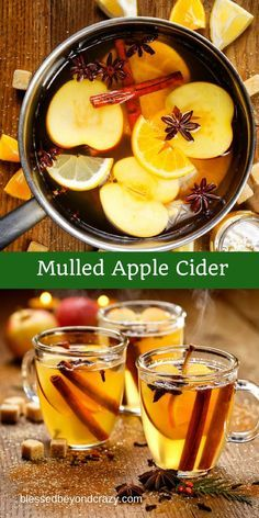 Mulled Apple Cider -  a wonderful hot beverage for a chilly day! blessedbeyondcrazy.com #mulledcider