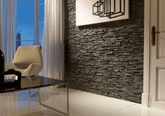 Alpes Slate Panel - Grey - Decorative Slate Effect Wall Covering- 1m²/panel