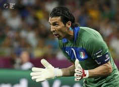 Italy's goalkeeper Buffon looks on during their Euro 2012 quarter-final soccer match against England at Olympic Stadium in Kiev. TONY GENTILE/REUTERS