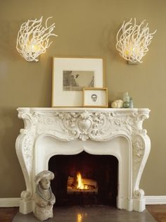 Love these coral sconces from moth design - and NOT just for a beach house!!