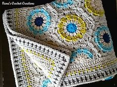 """Nana's method for straightening the top and bottom of Nana's Hexagons (blanket) or Nana's """"Simple """"Circle in a Hexagon"""" Pattern (blanket)."""
