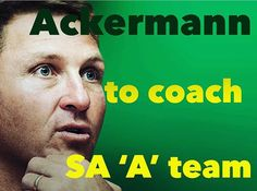 Johan Ackermann has been appointed as head coach of a strong SA 'A' team, featuring six players with Springbok Test experience, for their two-match series against the England Saxons next month.  #Lions4Life