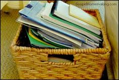 Image result for piles of paperwork in kitchen