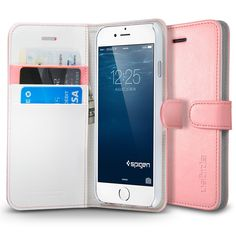 iPhone 6 Case Wallet S (4.7) in soft rose pink or mint green
