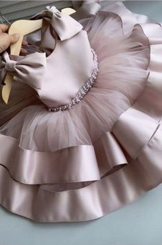 Baby Tutu Dresses, Cute Girl Dresses, Baby Dress, Little Girl Outfits, Kids Outfits, Soft Pink Dress, Girls Frock Design, Wedding Dresses For Kids, Kids Dress Patterns