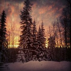 Sunset Snow, Spaces, Sunset, Pretty, Nature, Outdoor, Outdoors, Sunsets, Outdoor Games