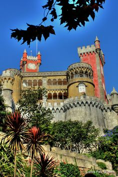 The Pena National Palace (Portuguese: Palácio Nacional da Pena) is located in the municipality of Sintra, Portugal.  It is a national monument and constitutes one of the major expressions of 19th century Romanticism in the world. The palace is a UNESCO World Heritage Site and one of the Seven Wonders of Portugal. It is also used for state occasions by the President of the Portuguese Republic and other government officials.