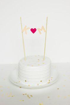 Custom Initials Cake Topper