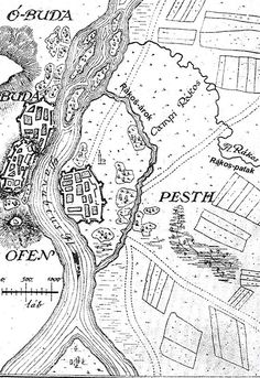 Buda or Pest 1737 Old Maps, Article Writing, Antique Prints, Cover Photos, Hungary, Budapest, Vintage World Maps, History, Retro