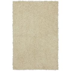 Mohawk Home Shaggedy Shag Cream Rectangular Cream Solid Tufted Area Rug (Common: 8-ft x 10-ft; Actual: 7.5-ft x 10-ft)