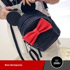 Bow Backpacks (579-914-6880-Black) Rs: 2000