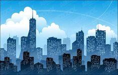 Superhero playdough mat - create playdough superheroes to fly through the city skyline (Dapto Messy Church) Superhero Background, City Background, Background Pictures, New York Skyline Silhouette, Kids Lantern, Spiderman Comic Books, Building Silhouette, City Backdrop, City Vector
