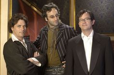 """""""Slings and Arrows""""...a great Canadian series about a director who is haunted by his dead mentor...funny and heartbreaking. And just look at that cast...Paul Gross, Don McKellar, and Mark McKinney (who also co-created and co-wrote the series). Brilliant!! :)"""