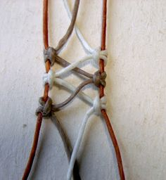 Ecocrafta: Macrame wrapping : Lace style Colour variated http://ecocrafta.blogspot.com.au/2013/02/macrame-wrapping-technicmedium-stone.html