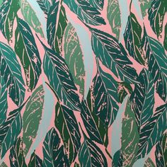 Stunning screen-printed wallpaper motif from @HyggeandWest @icff_nyc @nycxdesign