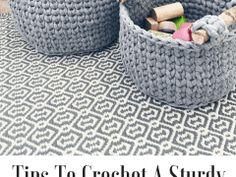 how to crochet a sturdy basket
