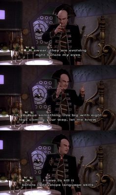 This was one of B5s all time best subplots. Londo and the bug. Babylon 5 rewatch 3x12
