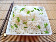 rice + coconut + garlic