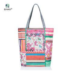A1 New Fashion Casual Geometric Owl Flower Butte Single Shoulder Canvas Women Bag Available Handbag shopping bag Bolsa Beach Bag
