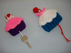 Cupcake key cover pattern