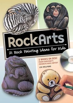 Free demo on how to paint rocks. Rock art is perfect for craft time with your kids at home and school. Paint fun rock burger with pickles!