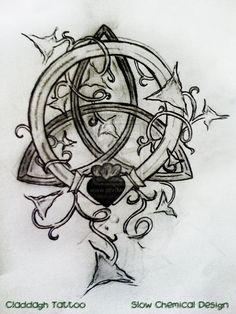 ivy tattoo sleeve / ivy tattoo & ivy tattoo small & ivy tattoo vines for women & ivy tattoo black & ivy tattoo sleeve & ivy tattoo simple & ivy tattoo men & ivy tattoo vines black and white Claddagh Tattoo, Celtic Knot Tattoo, Celtic Knots, Black Tattoos, Small Tattoos, Tattoos For Guys, Ivy Tattoo, Tattoo Designs And Meanings, Tattoo Stencils