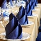 Napkin folding inspiration ideas. There are many ways to display napkins and uniquely decorate a table setting. You can also match them up with wedding table runners and place mats. There are inspiration ways to fold your napkins. It's very easy to make and vow your guests. Wedding napkins are a great way to accessorise any wedding table.
