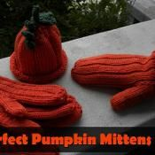 Perfect Pumpkin Mittens  - via @Craftsy pattern for sale
