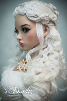 "IN STOCK! Ready natural angora goat custom wig. Shipping in 3 business days!  www.etsy.com/ru/listing/261228275/ready-wig-daenerys-targ...  Daenerys Targaryen (""Game of throns"") hairstyle with beautiful snow-white breads for your doll. The wig has an elastic cap of white color with an elastic band, that you don't need a silicone cap.  SIZE 8-9""  FREE SHIPPING (included Standart mail worldwide with tracking and insured)  We accept Paypal system."