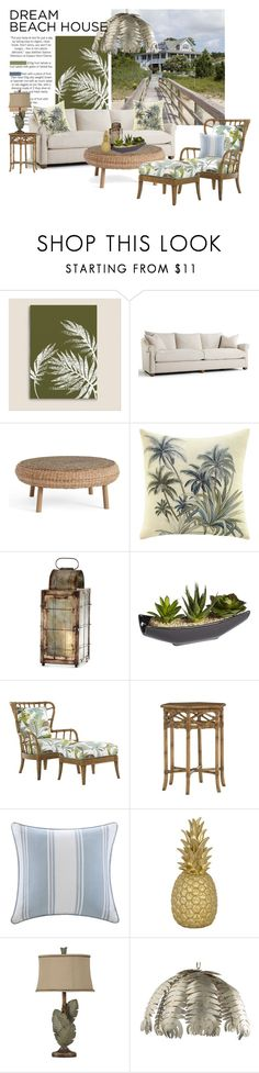 """Palm"" by joyfulnoise1052 ❤ liked on Polyvore featuring interior, interiors, interior design, home, home decor, interior decorating, Pottery Barn, Tommy Bahama, Cyan Design and Pier 1 Imports"