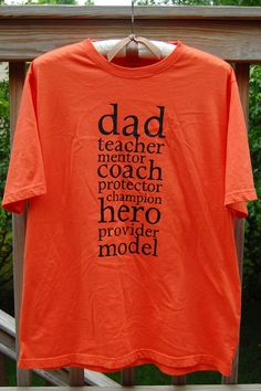Father's Day  Freezer Paper Stenciled Tshirt