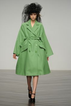 #JohnRocha #AW13 #catwalk #readytowear #LFW #london #green #fashion #style