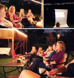 Outdoor movie for girl's night! LivingLocurto.com