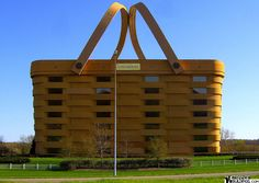 This basket shaped building is located in Newark, Ohio and is the home office of The Longaberger Basket Company.